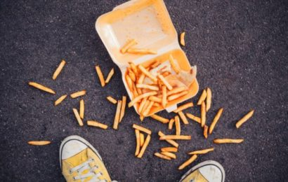 Man refuses to eat dropped french fries!
